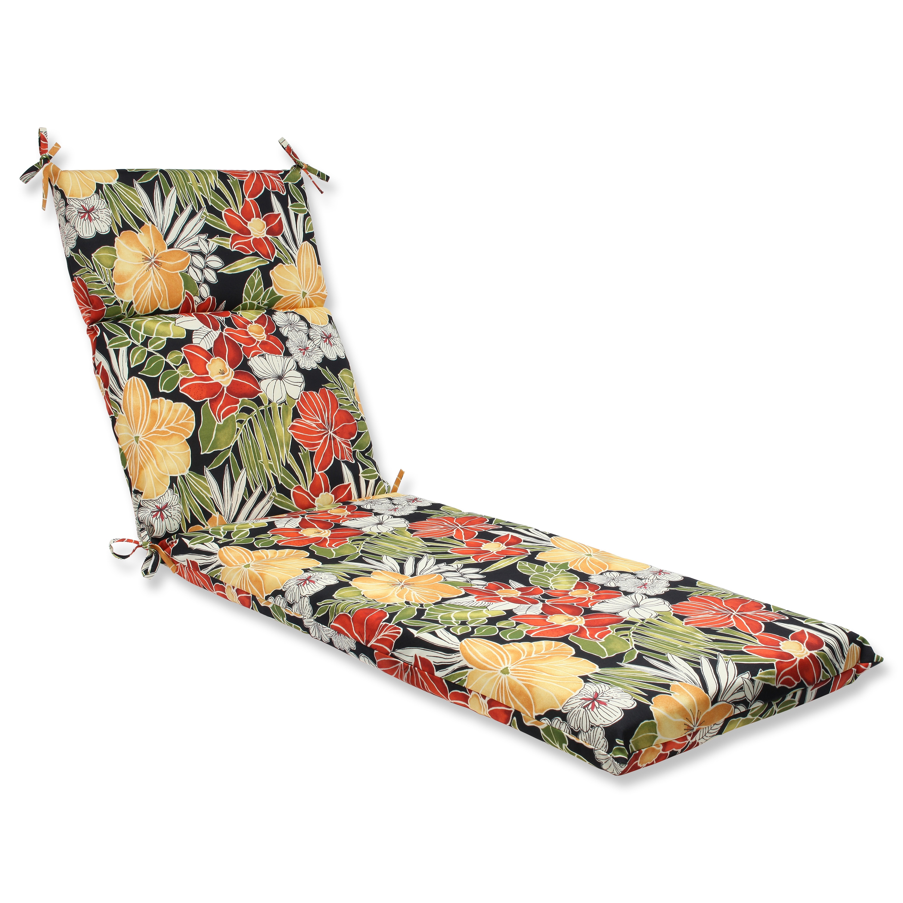 Pillow Perfect Outdoor Clemens Noir Chaise Lounge Cushion
