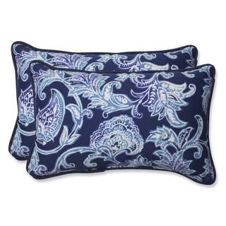 Pillow Perfect Outdoor Lahaye Indigo Rectangular Throw Pillow (Set of 2)