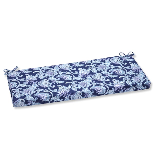 Pillow Perfect Outdoor Lahaye Indigo Bench Cushion