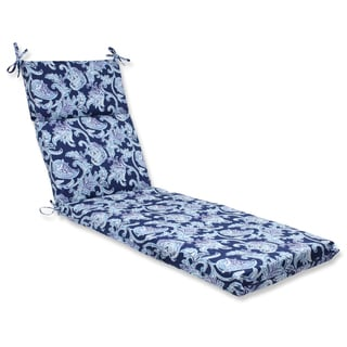 Pillow Perfect Outdoor Lahaye Indigo Chaise Lounge Cushion