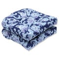 Pillow Perfect Outdoor Lahaye Indigo Wicker Seat Cushion (Set of 2)