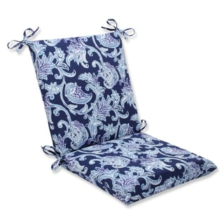 Pillow Perfect Outdoor Lahaye Indigo Squared Corners Chair Cushion