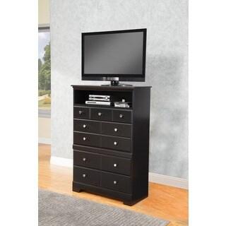 Sandberg Furniture Black Elena 4-drawer TV Chest