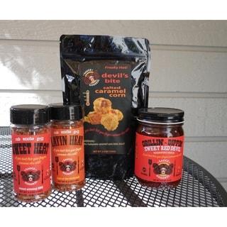 Sauce Goddess Fiery Food Fan Sampler Set
