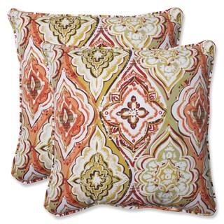 Pillow Perfect Outdoor Montrese Desert 18.5-inch Throw Pillow (Set of 2)
