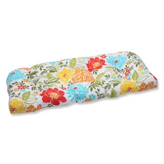 Pillow Perfect Outdoor Spring Bling Multi Wicker Loveseat Cushion