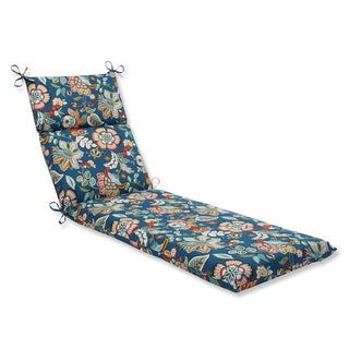 Pillow Perfect Outdoor Telfair Peacock Chaise Lounge Cushion