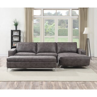 Kobe 3-piece Grey Sectional