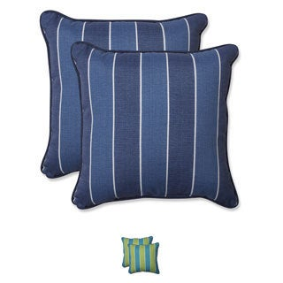 Pillow Perfect Outdoor Wickenburg 18.5-inch Throw Pillow (Set of 2)