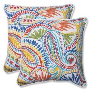Pillow Perfect Outdoor Ummi Multi 18.5-inch Throw Pillow (Set of 2)