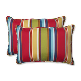 Pillow Perfect Outdoor Westport Garden Over-sized Rectangular Throw Pillow (Set of 2)