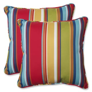 Pillow Perfect Outdoor Westport Garden 18.5-inch Throw Pillow (Set of 2)