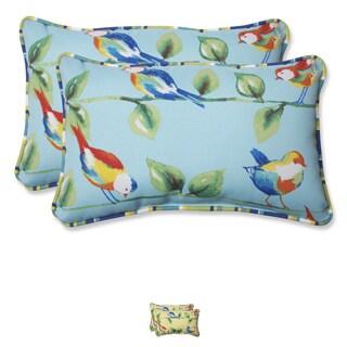 Pillow Perfect Outdoor Curious Bird Rectangular Throw Pillow (Set of 2)