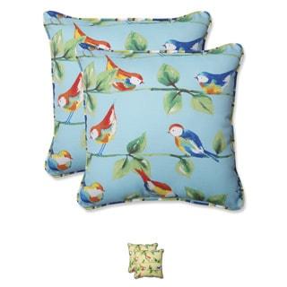 Pillow Perfect Outdoor Curious Bird 18.5-inch Throw Pillow (Set of 2)