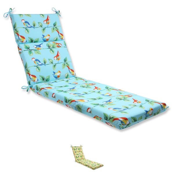 Pillow Perfect Outdoor Curious Bird Chaise Lounge Cushion