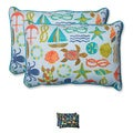 Pillow Perfect Outdoor Seapoint Over-sized Rectangular Throw Pillow (Set of 2)