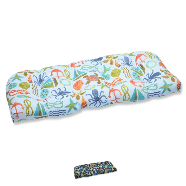 Pillow Perfect Outdoor Seapoint Wicker Loveseat Cushion