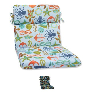 Pillow Perfect Outdoor Seapoint Rounded Corners Chair Cushion