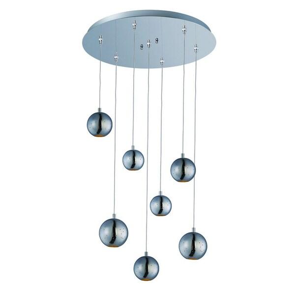 Polaris Chrome Spheres 7-light Pendant