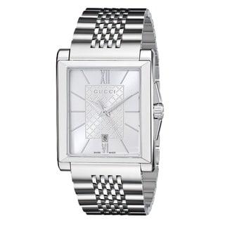 Gucci Women's YA138501 'G-Timeless' Rectangle Swiss Quartz Stainless Steel Watch