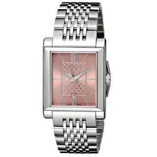 Gucci Women's YA138502 'G-Timeless' Rectangle Swiss Quartz Stainless Steel Watch