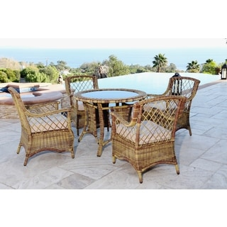 ABBYSON LIVING Hampton Outdoor Light Brown Wicker 5-piece Dining Set