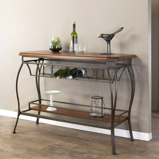 Bordeaux Wood and Metal Contemporary Console Table