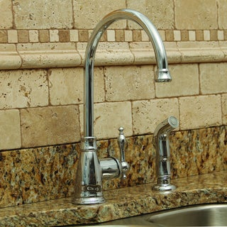 Premier Wellington Lead-free Single-handle Chrome Kitchen Faucet with Matching Side Spray