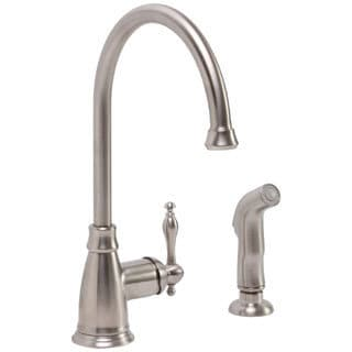 Premier Wellington Lead-free Single-handle PVD Brushed Nickel Kitchen Faucet with Matching Side Spray