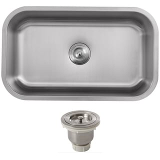 Ticor 31.5-inch Stainless Steel 16-gauge Undermount Single Bowl Kitchen Sink