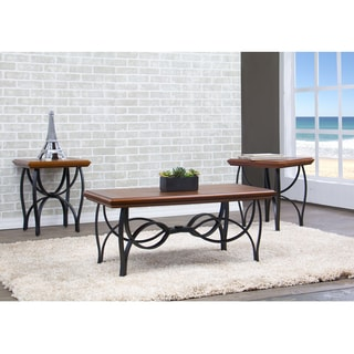 Archipelago Wood and Metal 3-Piece Table Set