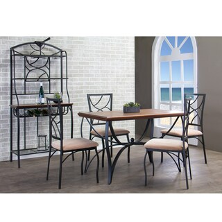 Valletta Wood and Metal 5-Piece Transitional Dining Set