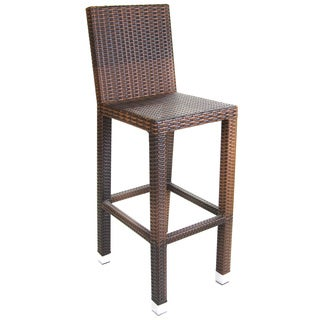 Jordan Manufacturing Brown Wicker Bar Chairs (Set of 2)