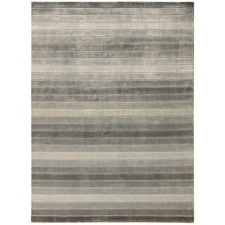 Nourison Aura Silver Shadow Area Rug (9'6 x 13')