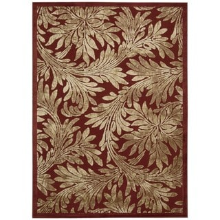 Nourison Graphic Illusions Red Rug (5'3 x 7'5)