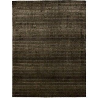 Hand-woven Nourison Aura Chocolate Area Rug (5'6 x 7'5)