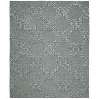 Hand-knotted Nourison Ambrose Slate Area Rug (7'9 x 9'9)