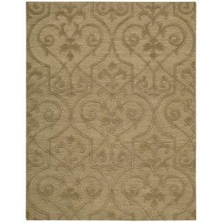 Hand-woven Nourison Ambrose Khaki Area Rug (9'9 x 13'9)