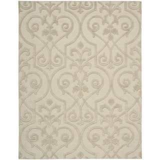Hand-knotted Nourison Ambrose Sand Area Rug (9'9 x 13'9)