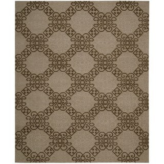 Hand-knotted Nourison Ambrose Almond Area Rug (7'9 x 9'9)