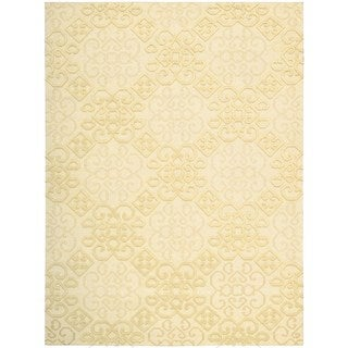Hand-knotted Nourison Ambrose Linen Area Rug (9'9 x 13'9)