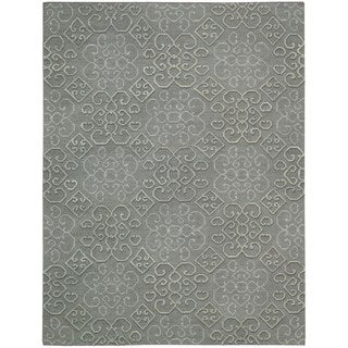 Hand Woven Nourison Ambrose Slate Area Rug (3'9 x 5'9)