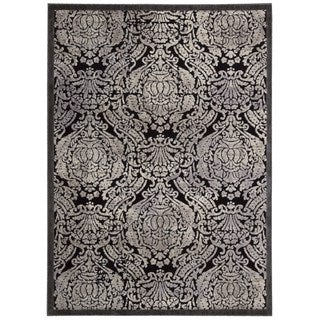 Nourison Graphic Illusions Black Rug (5'3 x 7'5)