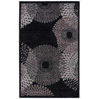 Nourison Graphic Illusions Black Geometric Rug (3'6 x 5'6)