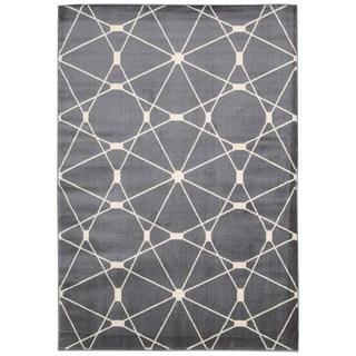 Nourison Nova Grey Geometric Area Rug (5'3 x 7'3)