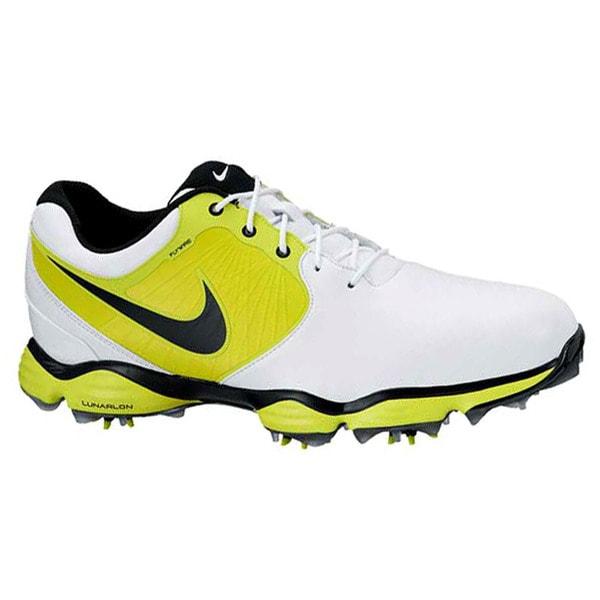 Nike Men's Lunar Control II White/ Slime/ Black Golf Shoes