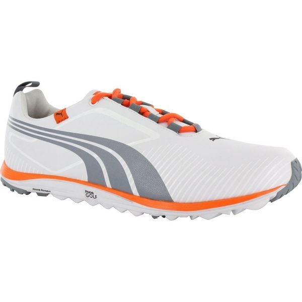 Puma Men's FAAS Lite White/ Tradewinds/ Orange Golf Shoes
