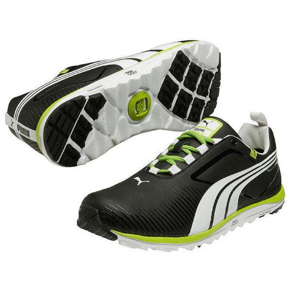 Puma Men's FAAS Lite Black/ White/ Lime Green Golf Shoes