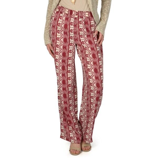Hailey Jeans Co. Junior's Wide Leg Tribal Print Pants