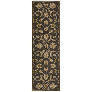 Nourison India House Charcoal Oriental Rug (2'3 x 7'6)